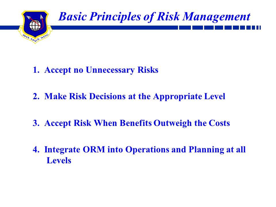 Basic Principles of Risk Management