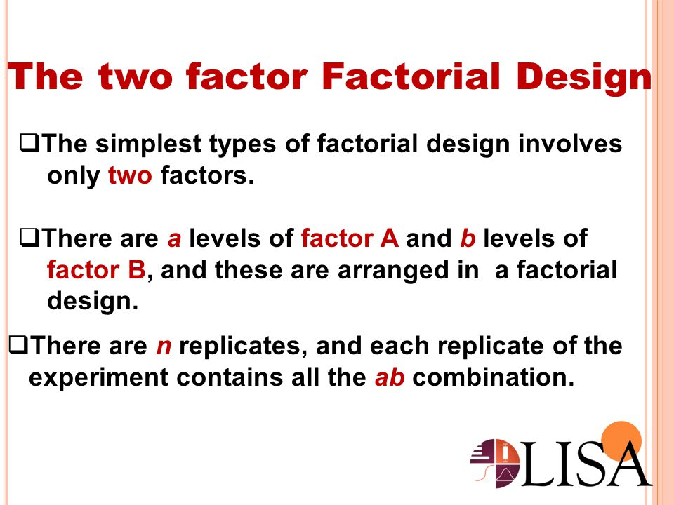 The two factor Factorial Design