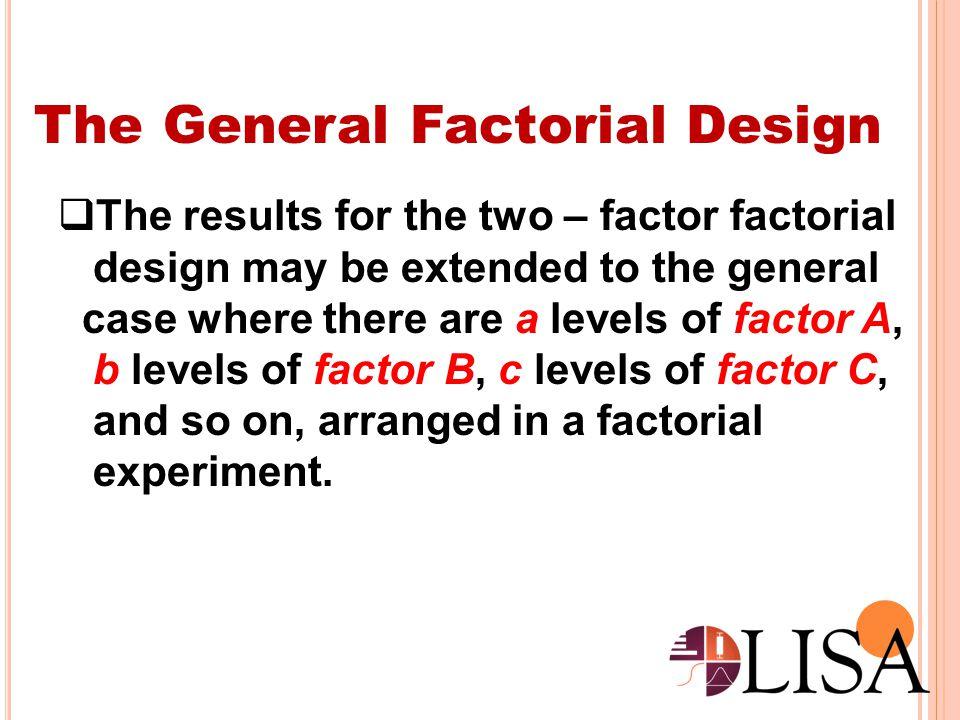 The General Factorial Design