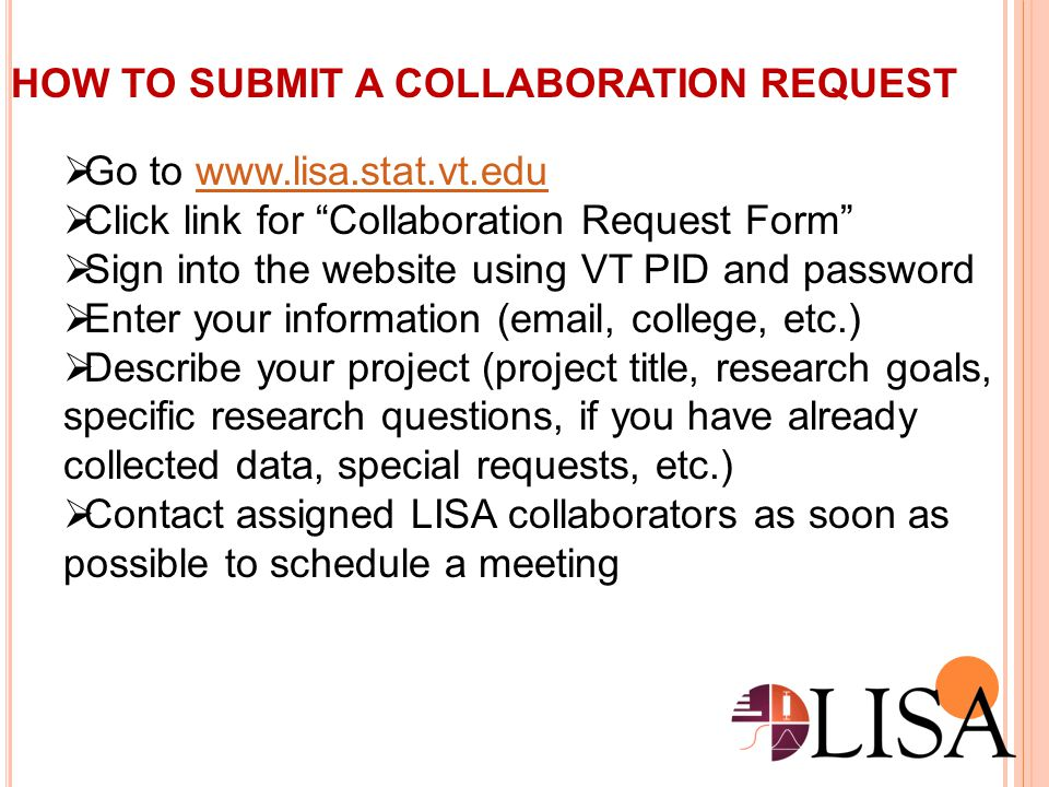 HOW TO SUBMIT A COLLABORATION REQUEST