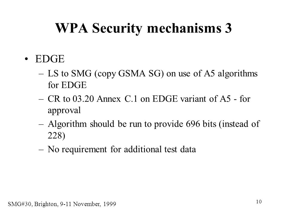 WPA Security mechanisms 3