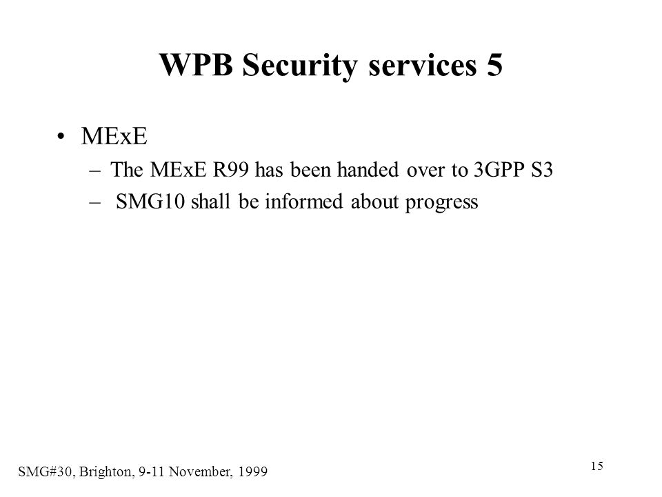 WPB Security services 5 MExE
