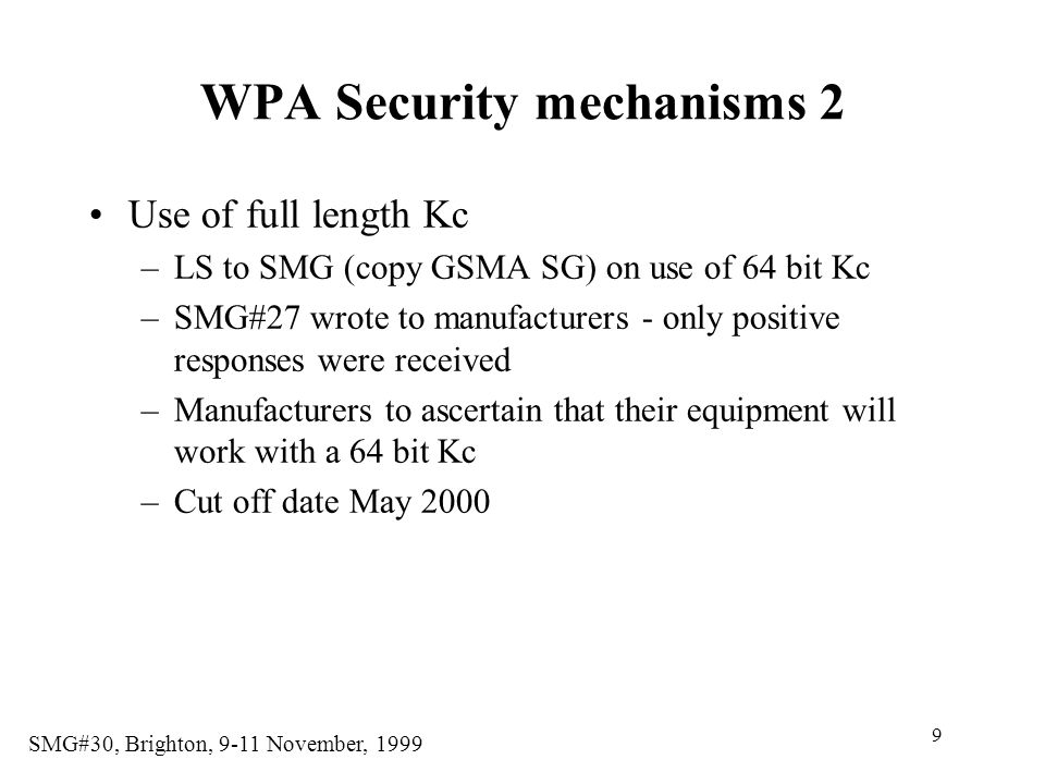 WPA Security mechanisms 2