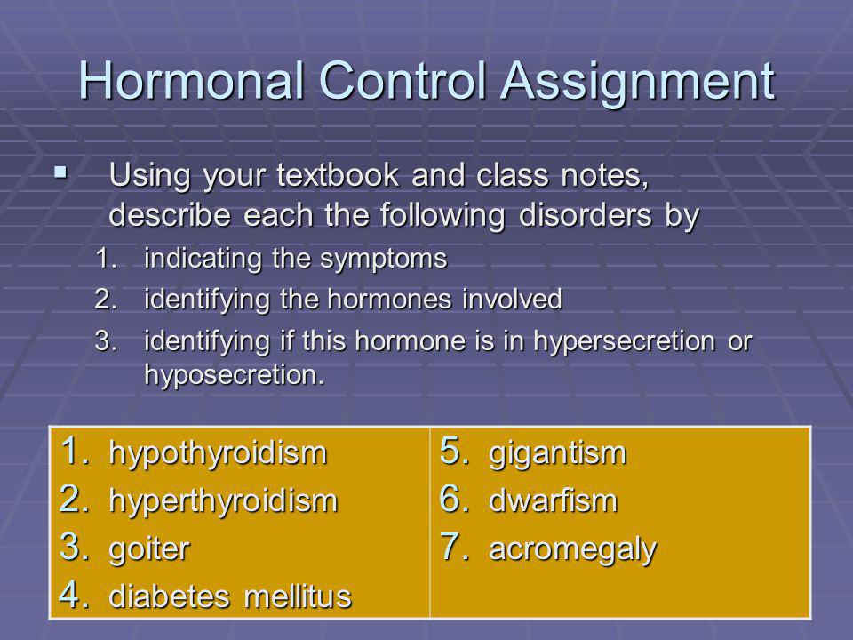 Hormonal Control Assignment