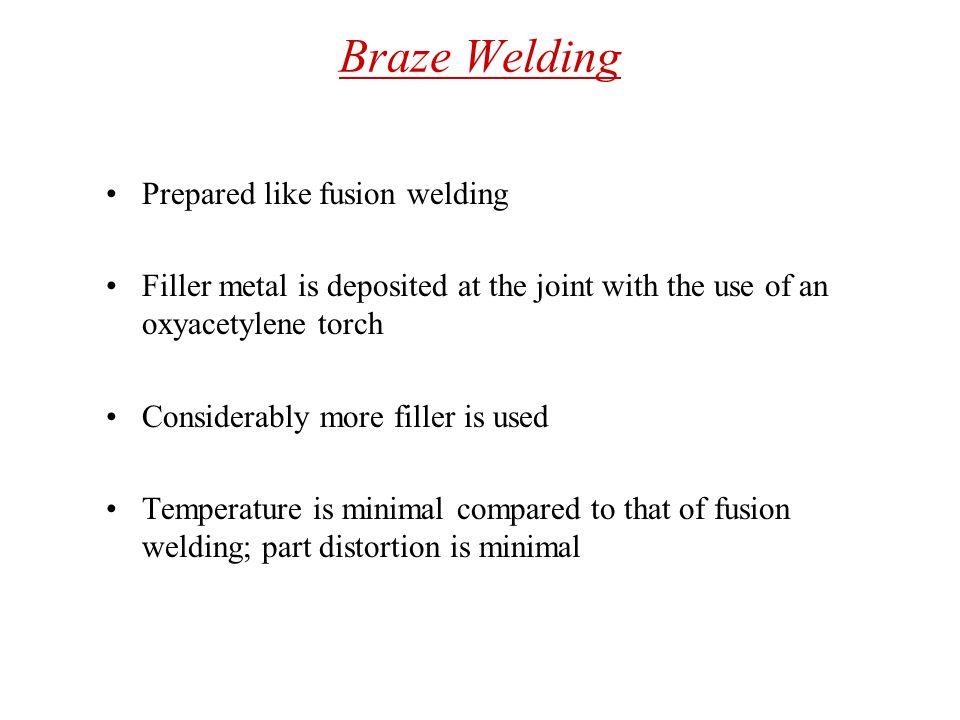 Braze Welding Prepared like fusion welding