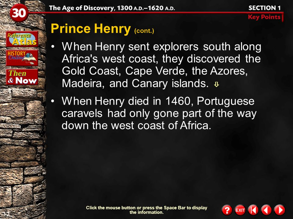 Prince Henry (cont.)