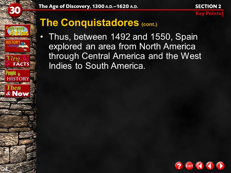 The Conquistadores (cont.)