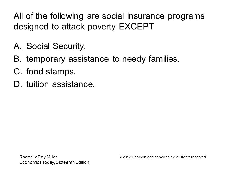 temporary assistance to needy families. food stamps.