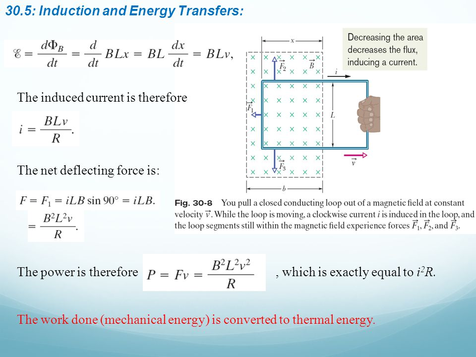 30.5: Induction and Energy Transfers: