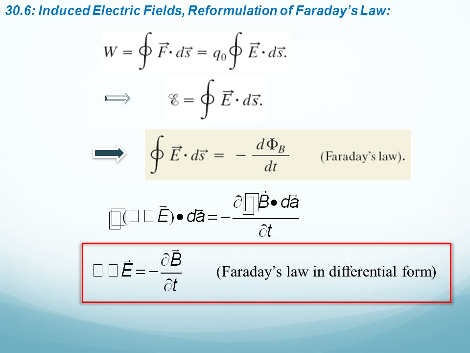 (Faraday's law in differential form)