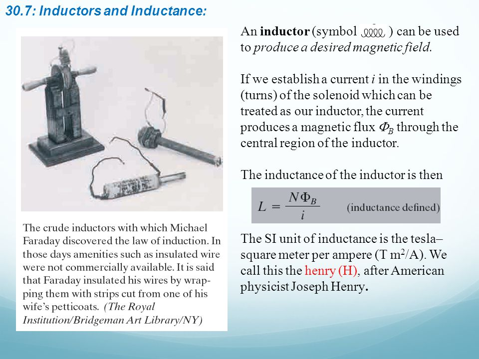 30.7: Inductors and Inductance: