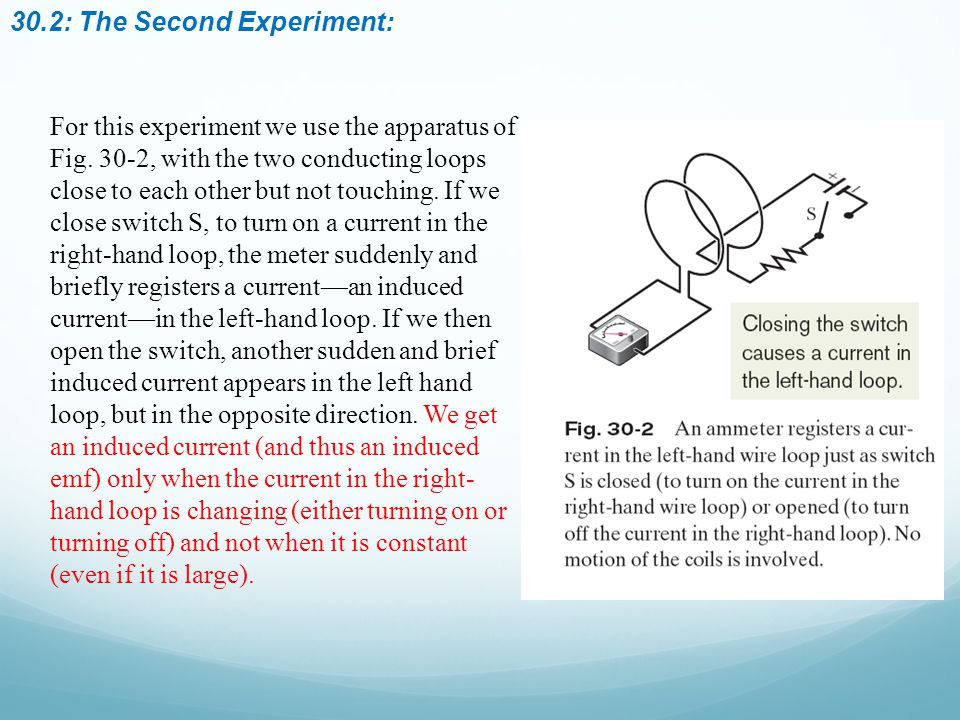 30.2: The Second Experiment: