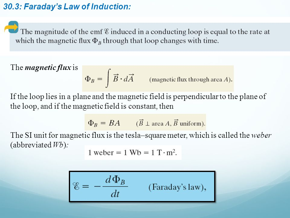 30.3: Faraday's Law of Induction: