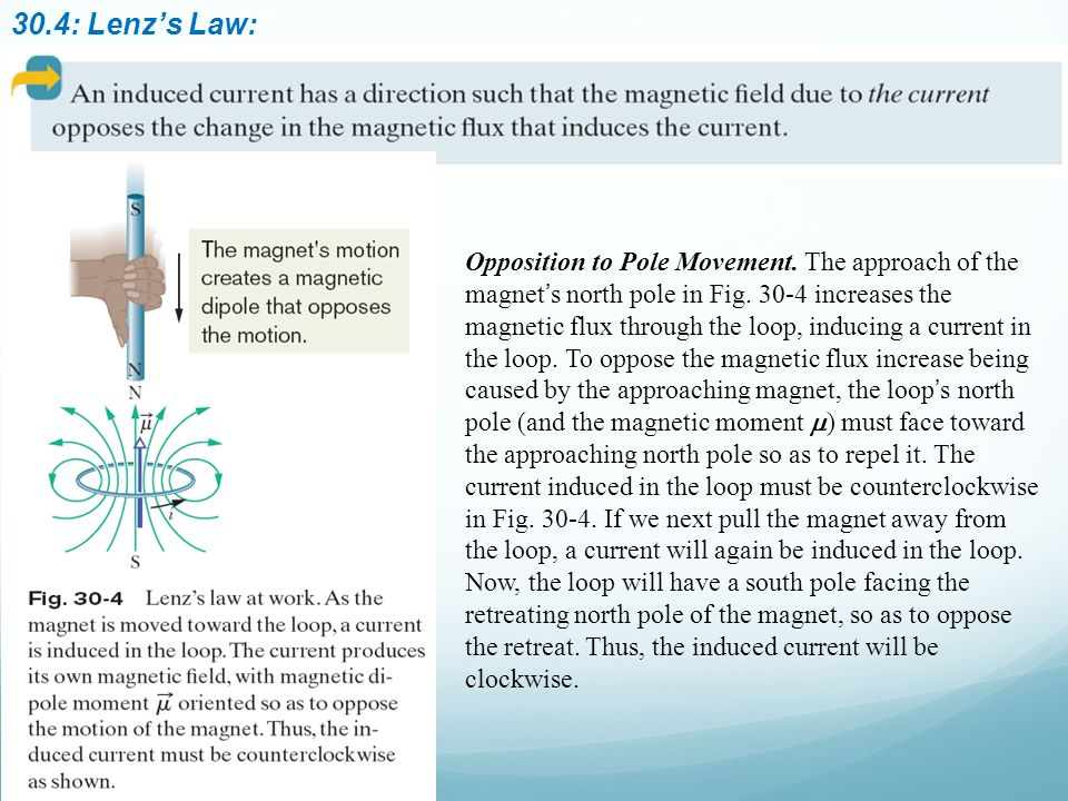 30.4: Lenz's Law: