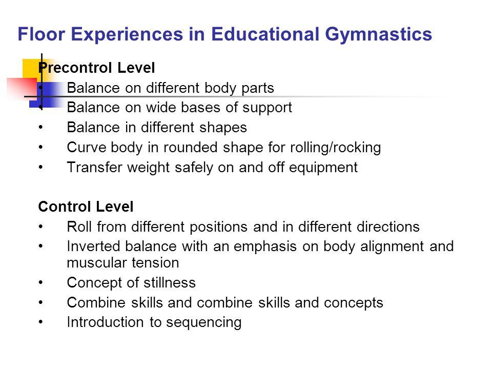 Floor Experiences in Educational Gymnastics