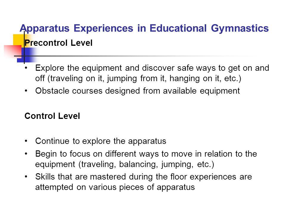 Apparatus Experiences in Educational Gymnastics