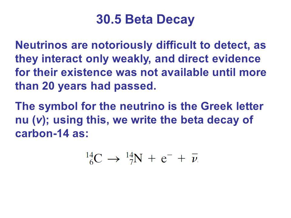 30.5 Beta Decay