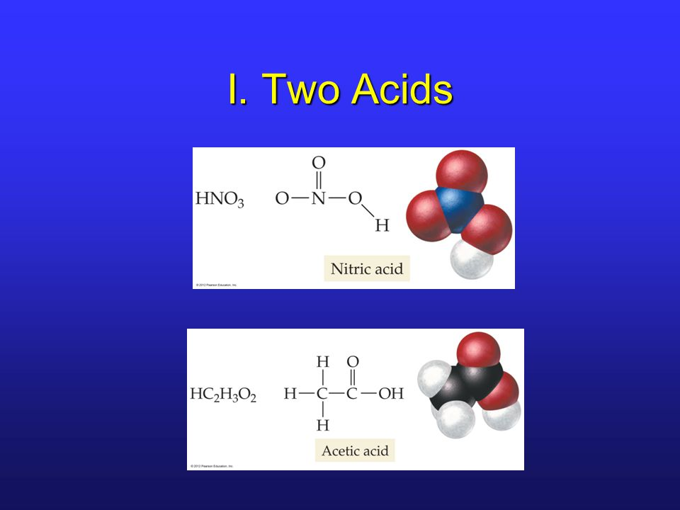 I. Two Acids