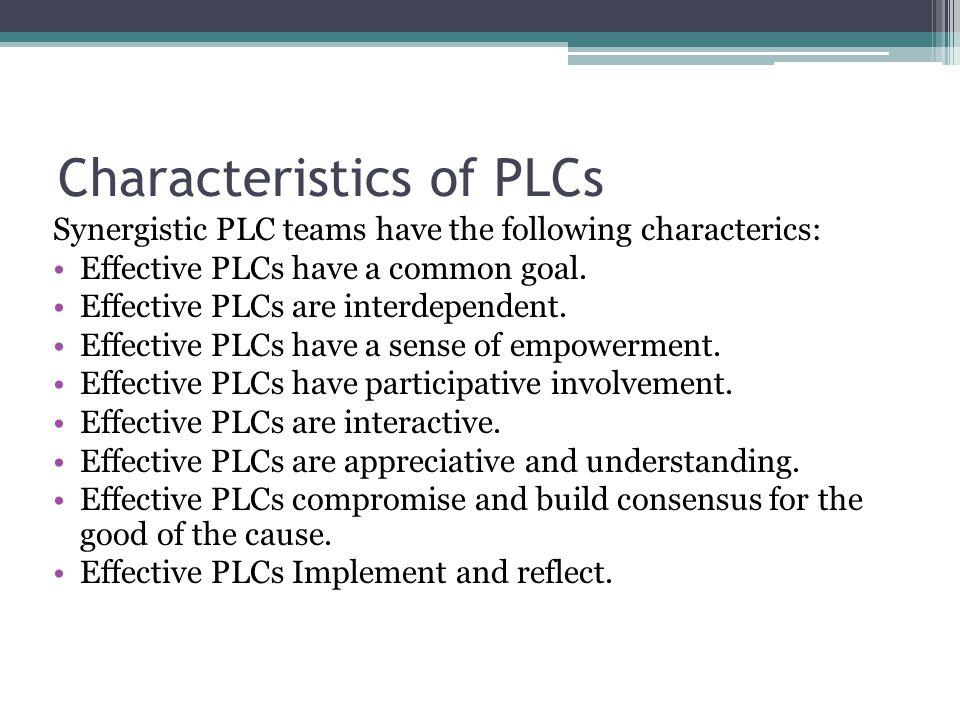 Characteristics of PLCs