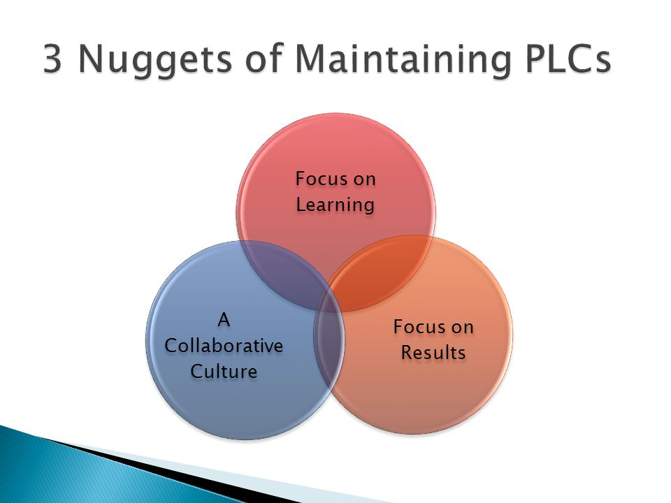 3 Nuggets of Maintaining PLCs