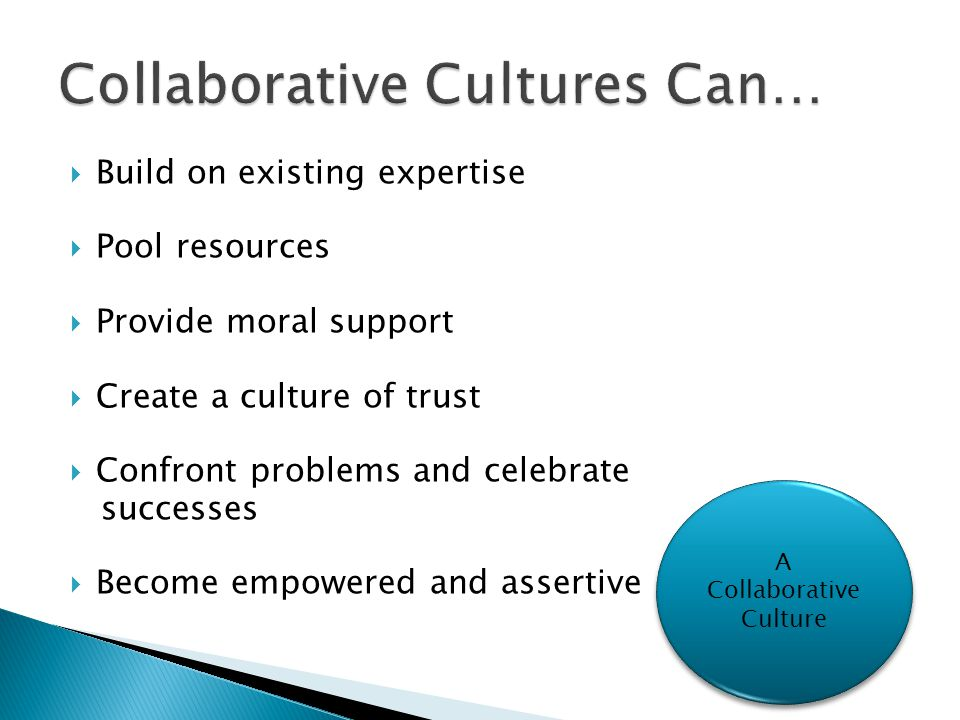 Collaborative Cultures Can…