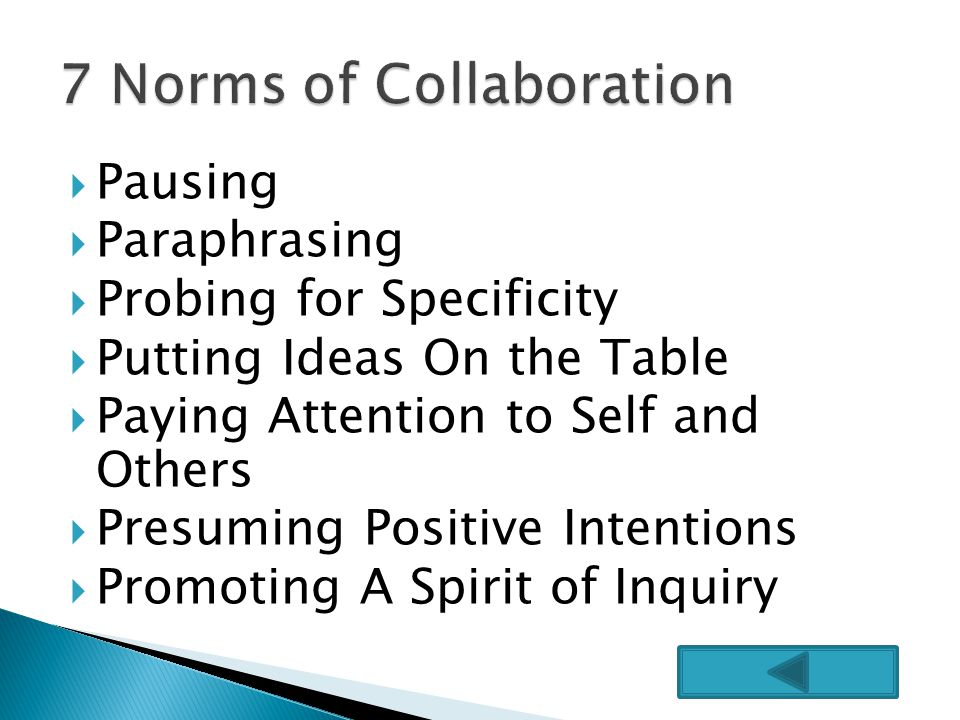7 Norms of Collaboration