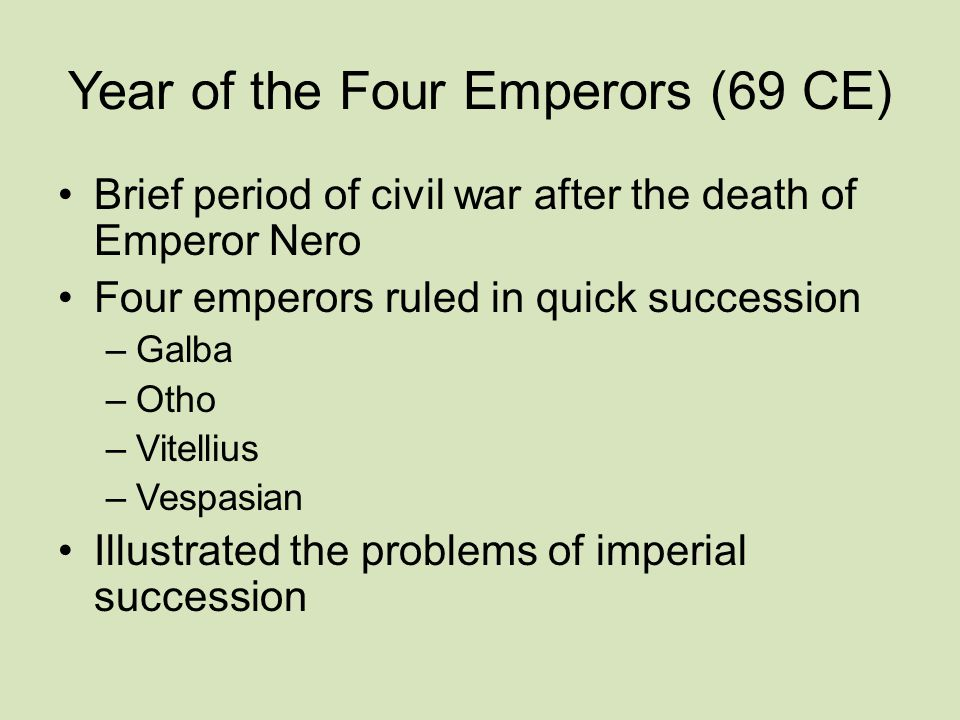 Year of the Four Emperors (69 CE)