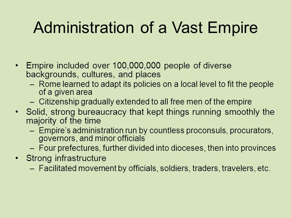 Administration of a Vast Empire