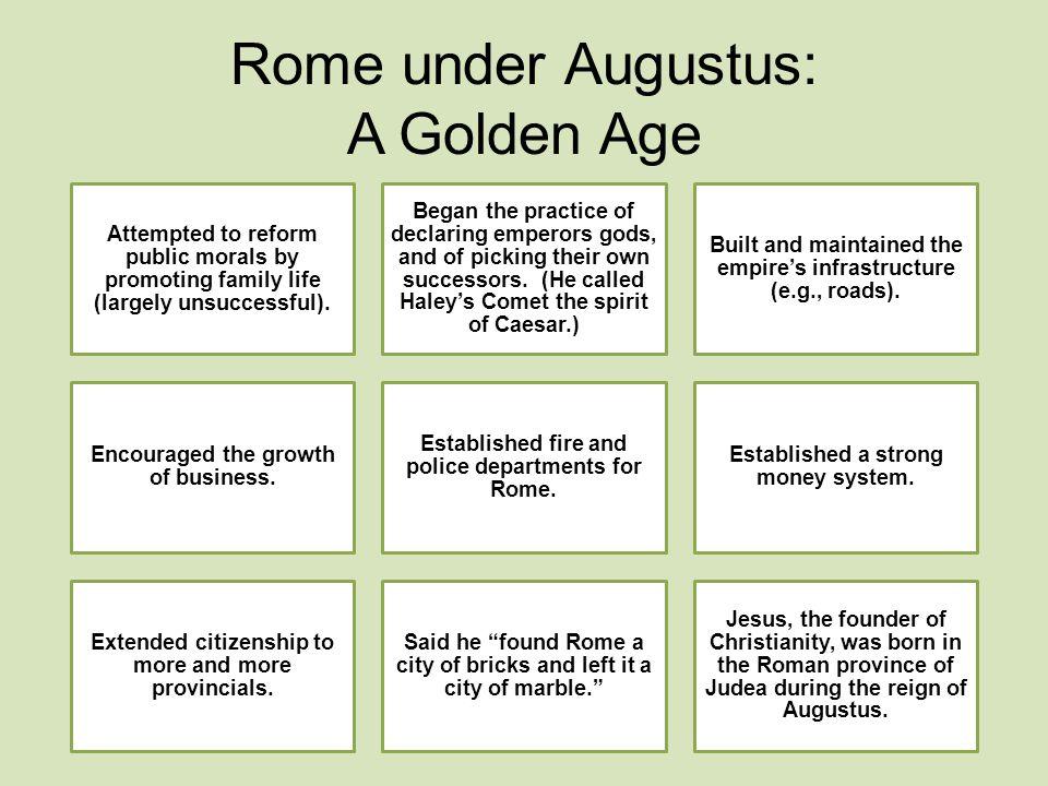 Rome under Augustus: A Golden Age