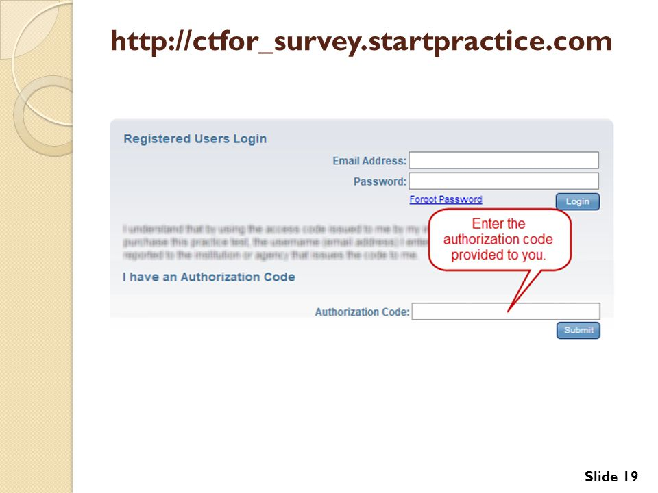 http://ctfor_survey.startpractice.com