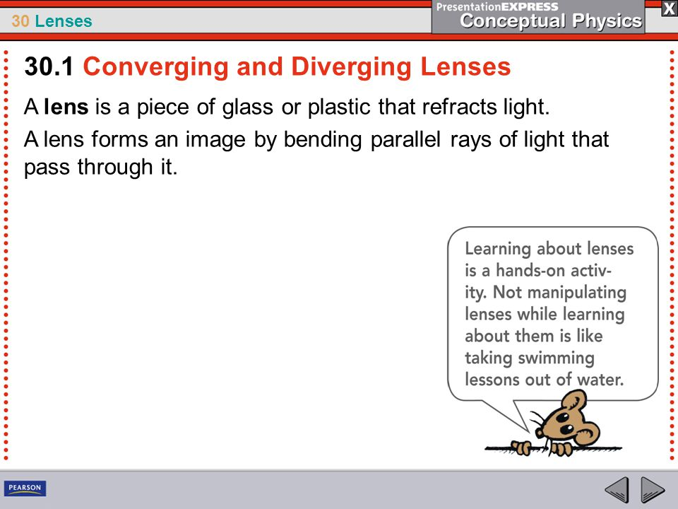 30.1 Converging and Diverging Lenses