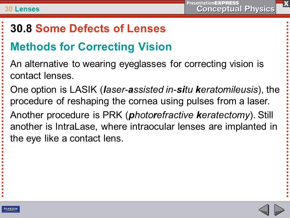 Methods for Correcting Vision