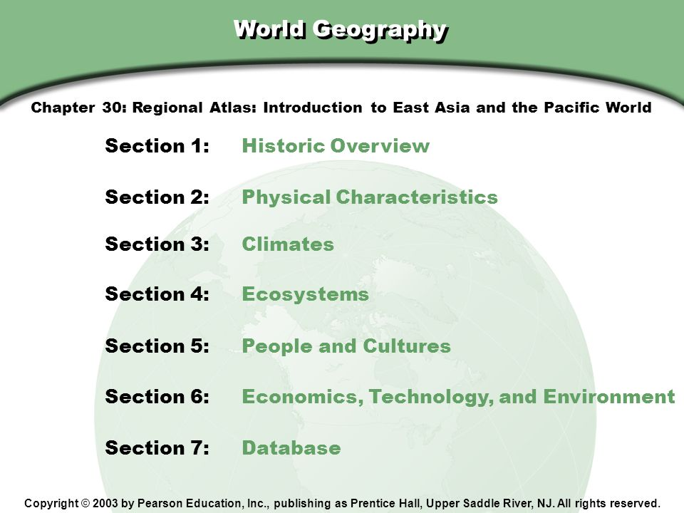 World Geography Section 1: Historic Overview