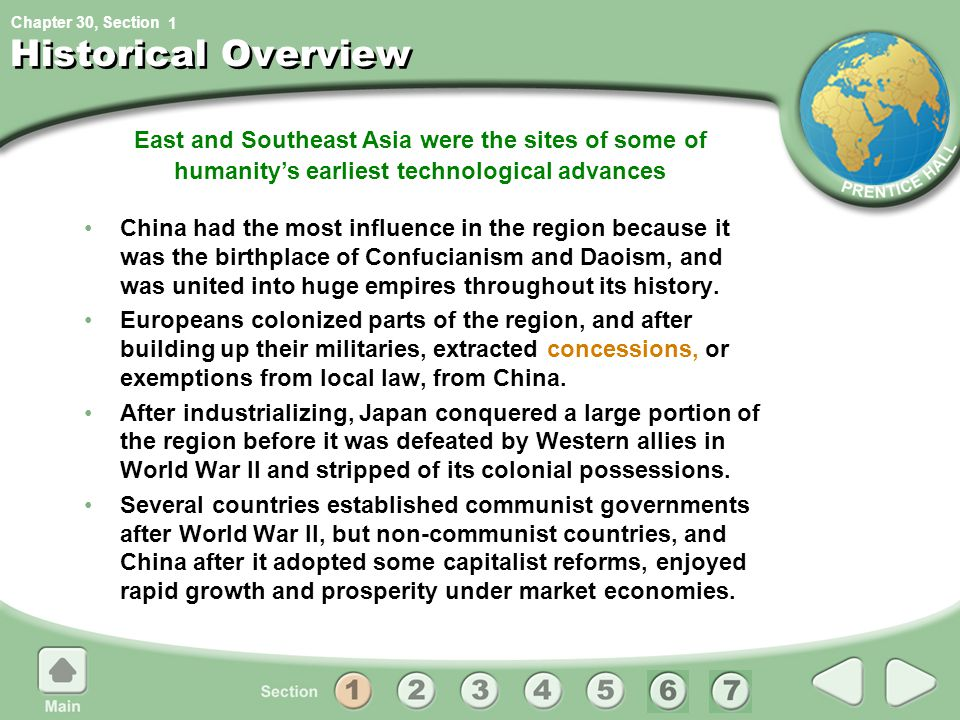 1 Historical Overview. East and Southeast Asia were the sites of some of humanity's earliest technological advances.
