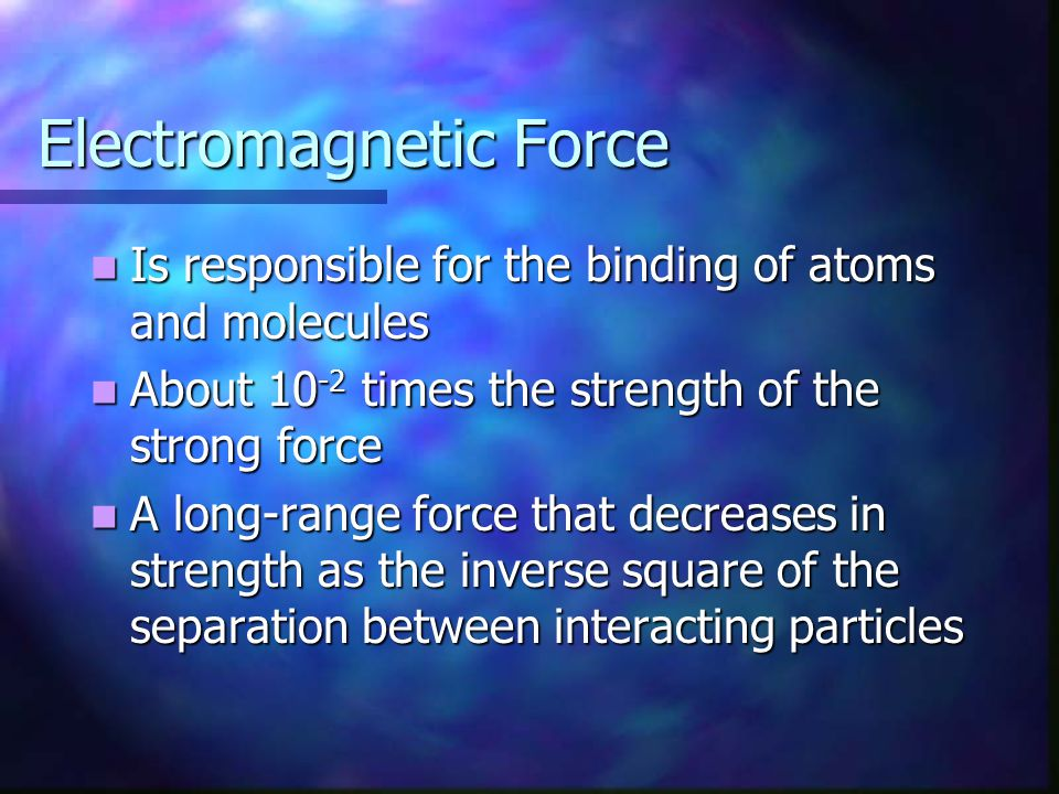 Electromagnetic Force