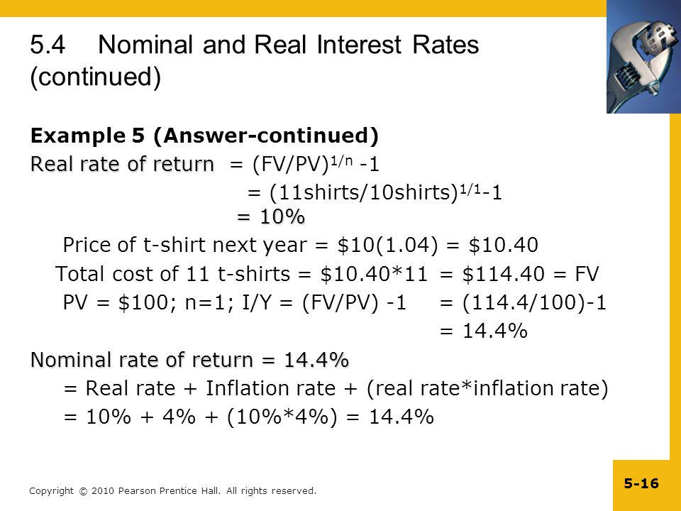 5.4 Nominal and Real Interest Rates (continued)