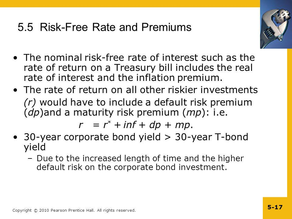 5.5 Risk-Free Rate and Premiums