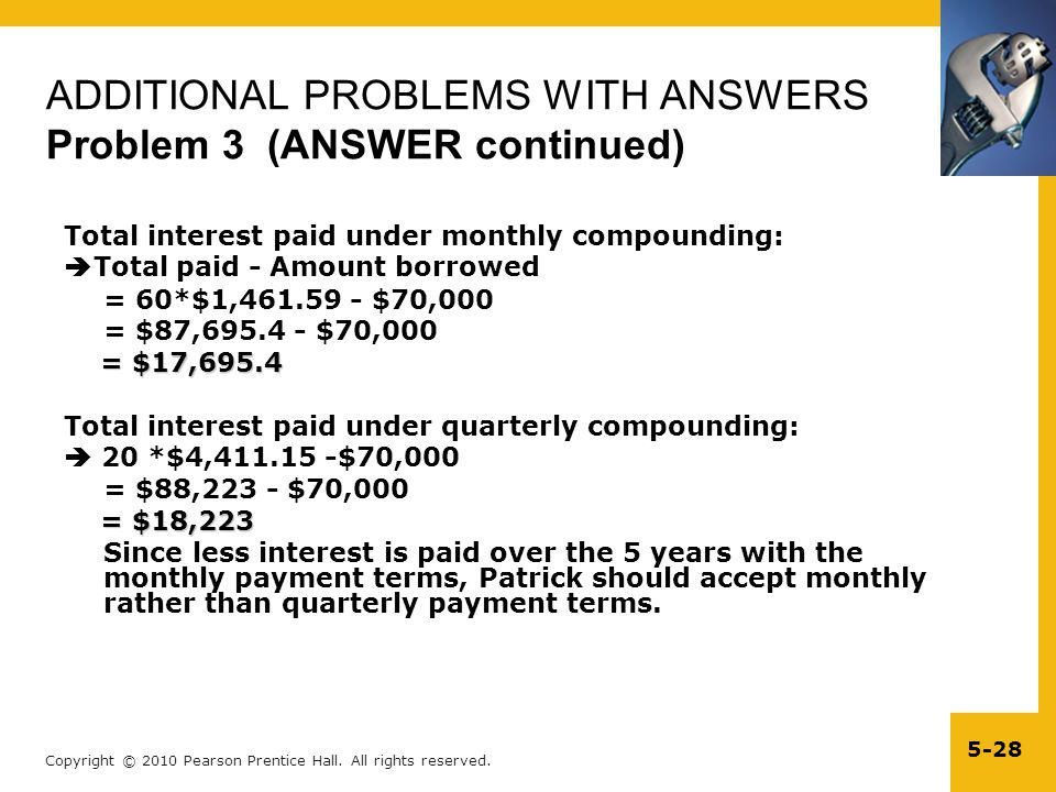 ADDITIONAL PROBLEMS WITH ANSWERS Problem 3 (ANSWER continued)