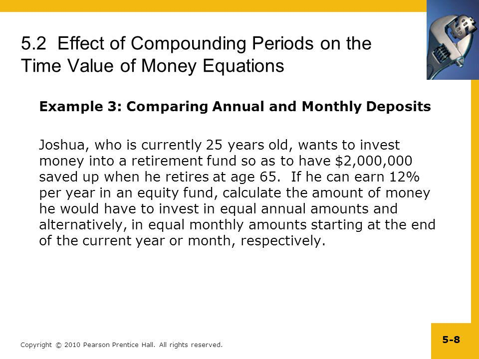 5.2 Effect of Compounding Periods on the Time Value of Money Equations