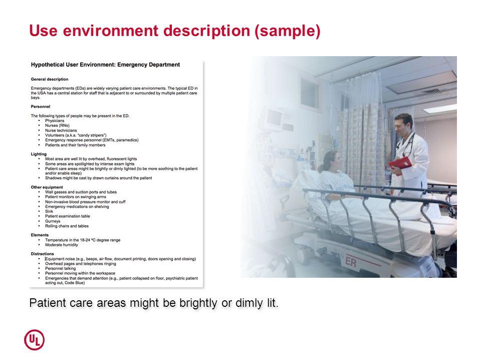Use environment description (sample)