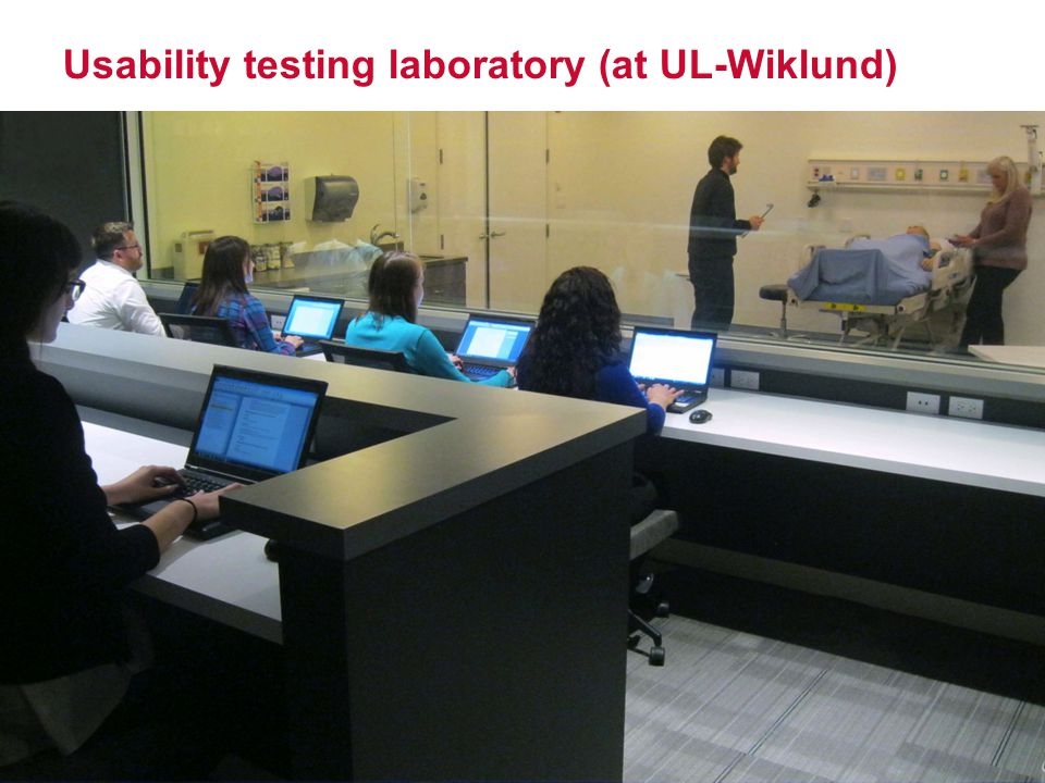 Usability testing laboratory (at UL-Wiklund)