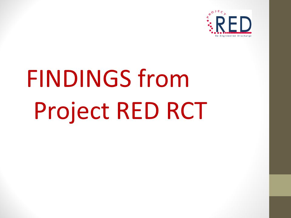 FINDINGS from Project RED RCT
