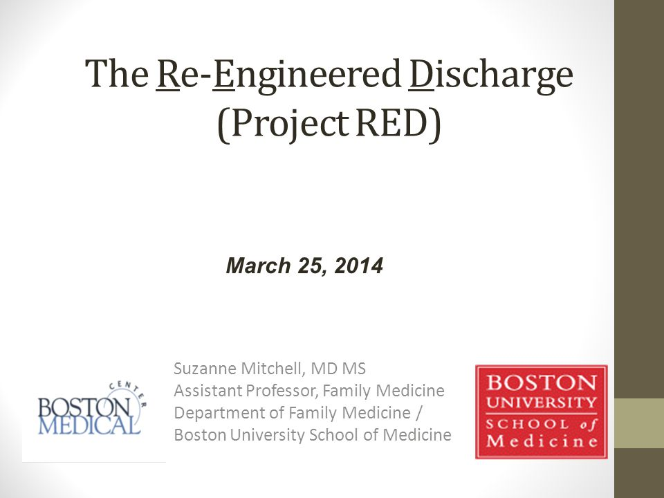 The Re-Engineered Discharge (Project RED)