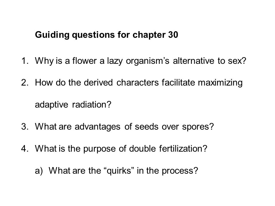 Guiding questions for chapter 30