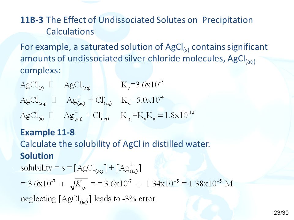 11B-3 The Effect of Undissociated Solutes on Precipitation Calculations