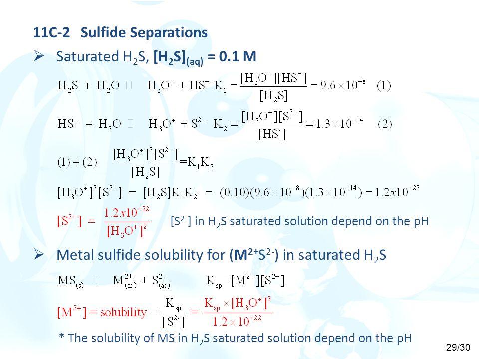 11C-2 Sulfide Separations