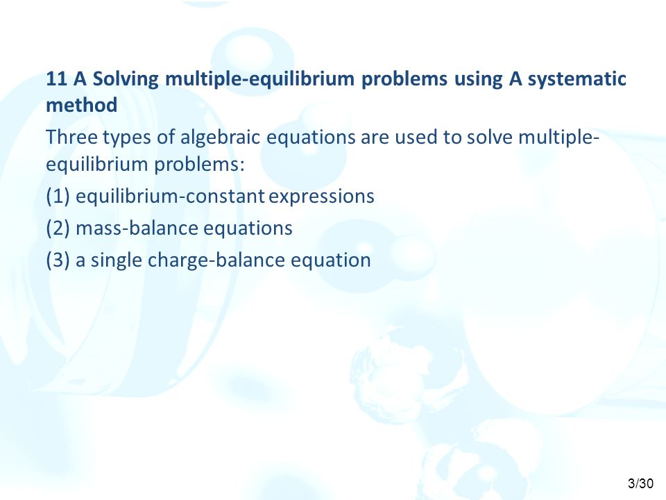 11 A Solving multiple-equilibrium problems using A systematic method