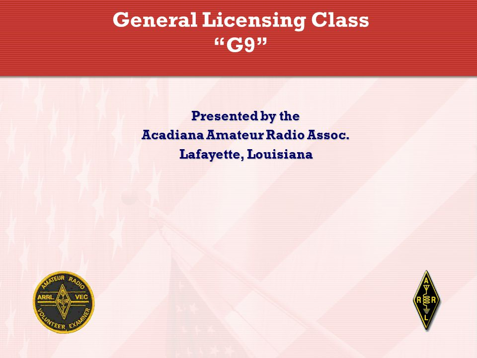 General Licensing Class G9