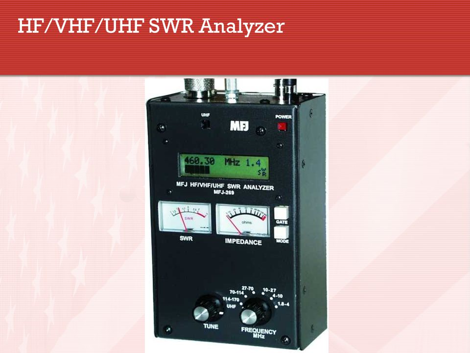 HF/VHF/UHF SWR Analyzer