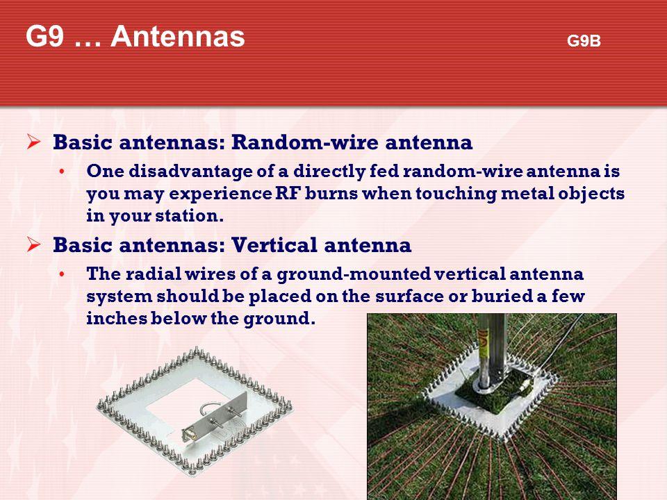 G9 … Antennas G9B Basic antennas: Random-wire antenna